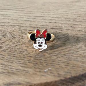 Vintage Disney Gold Minnie Mouse Adjustable Ring